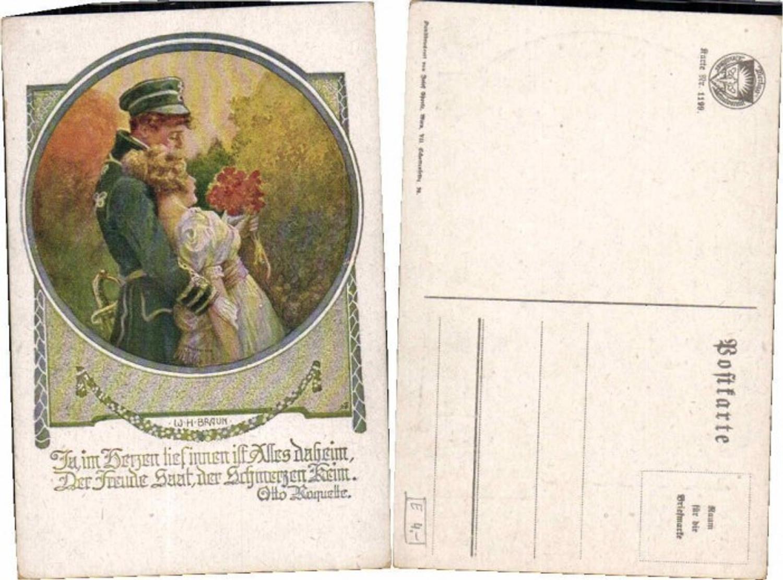 61244,Dt Schulverein 1199 W.H. Braun sign. Soldat Frau  günstig online kaufen