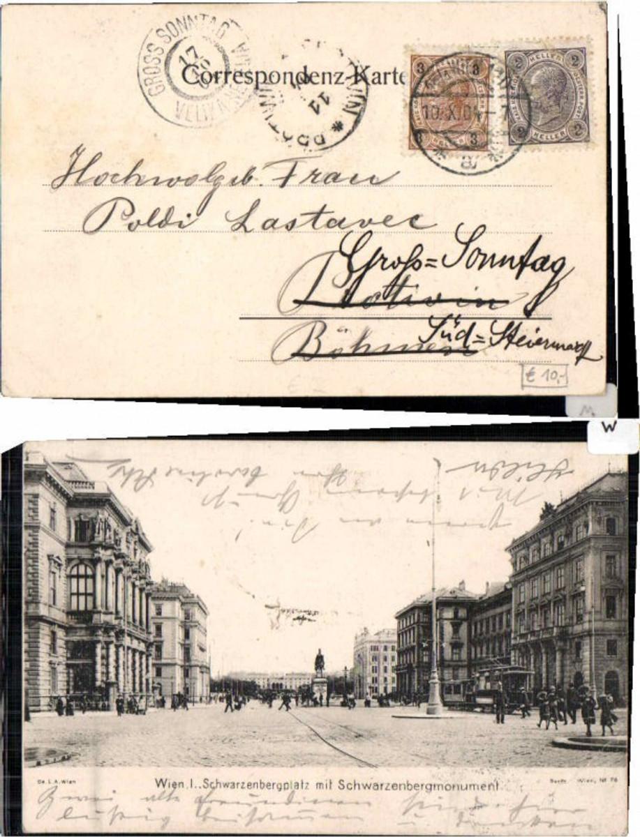 61466,Wien 1 Schwarzenbergplatz Schwarzenbergdenkmal 1900 günstig online kaufen