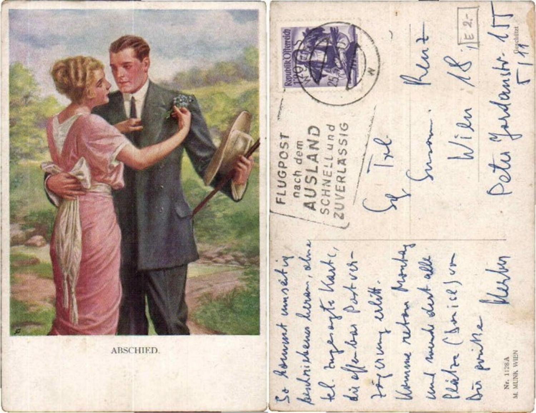 61737,M. Munk Vienne 1128a Abschied Paar  günstig online kaufen