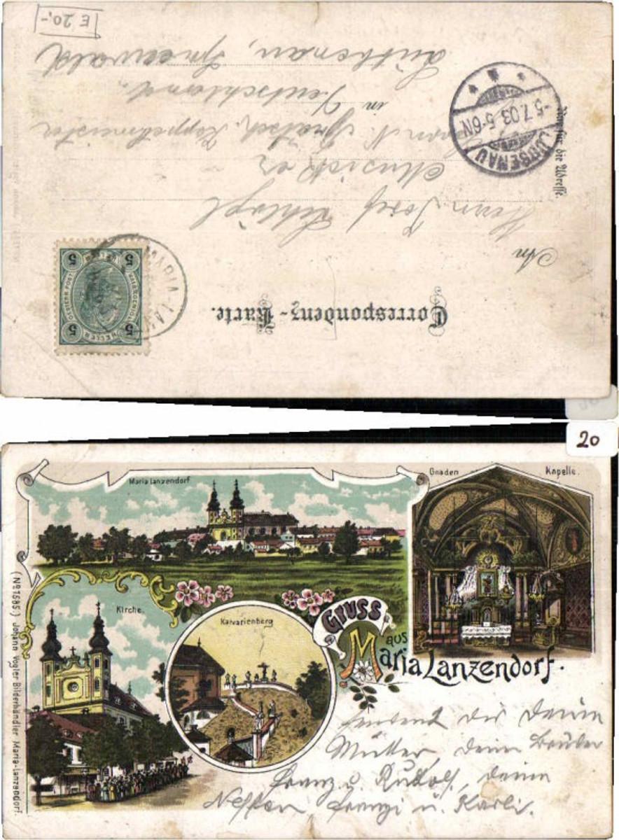 63541,Litho Gruß aus Maria Lanzendorf b. Wien 1900 günstig online kaufen