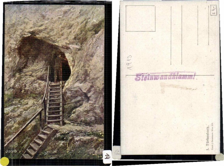 64863,Türkenloch Steinwandklamm Weissenbach sign. Jung  günstig online kaufen