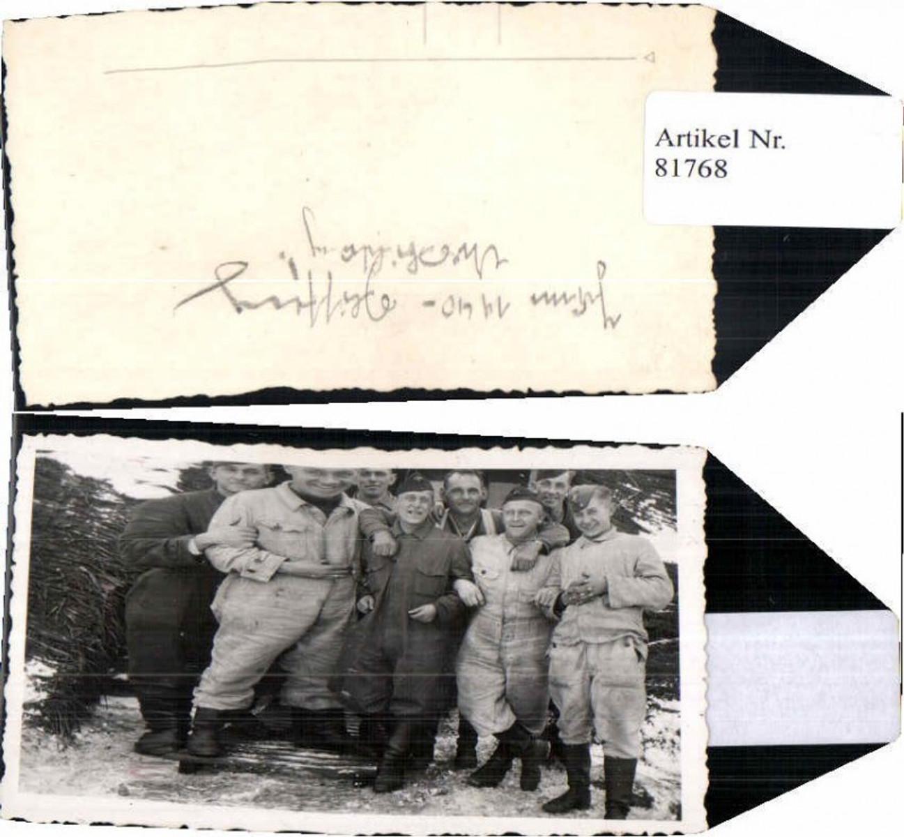 81768,WW2 Foto Panzerjäger Schneetarnanzug Schneetarn Uniform günstig online kaufen