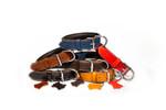 Hundehalsband aus Leder mit Neopren 001