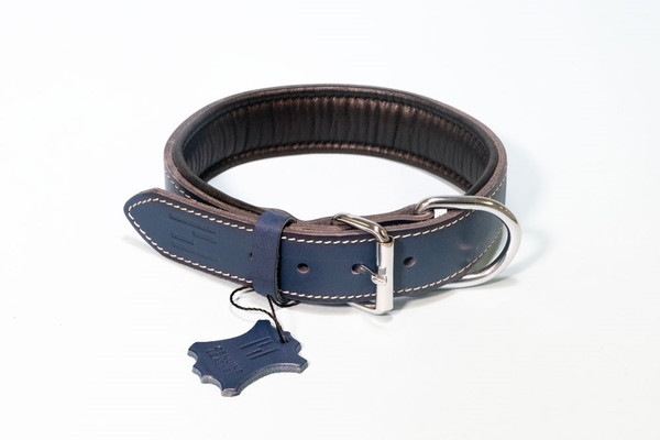 Hundehalsband 'Premium' aus feinstem Rindsleder  – Bild 8