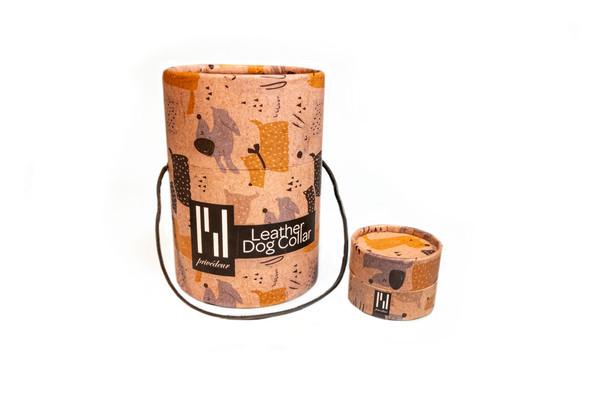 Hundehalsband aus feinstem Rindsleder  – Bild 2