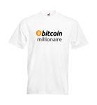 "T-Shirt ""bitcoin millionaire"" weiß 001"