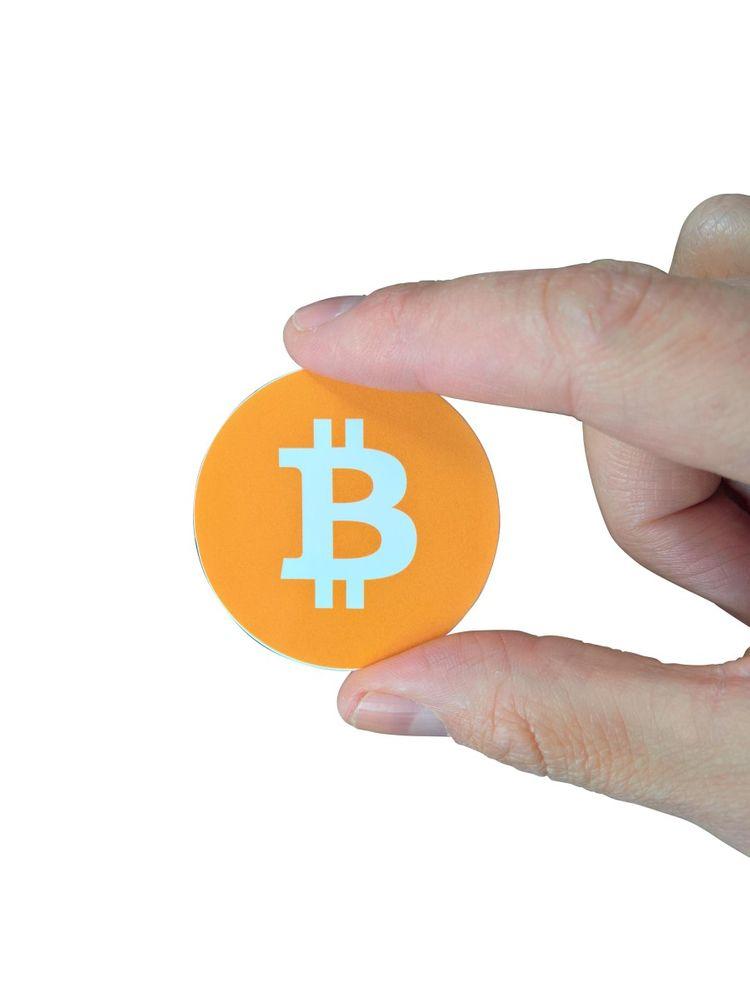 """Aufkleber """"bitcoin Logo"""" rund 50mm  – Bild 1"""
