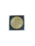 Bitcoin Münze 40mm vergoldet mit Münzkapsel 001