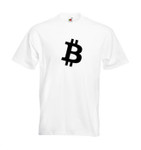 "T-Shirt bitcoin ""simple B"" weiß 001"