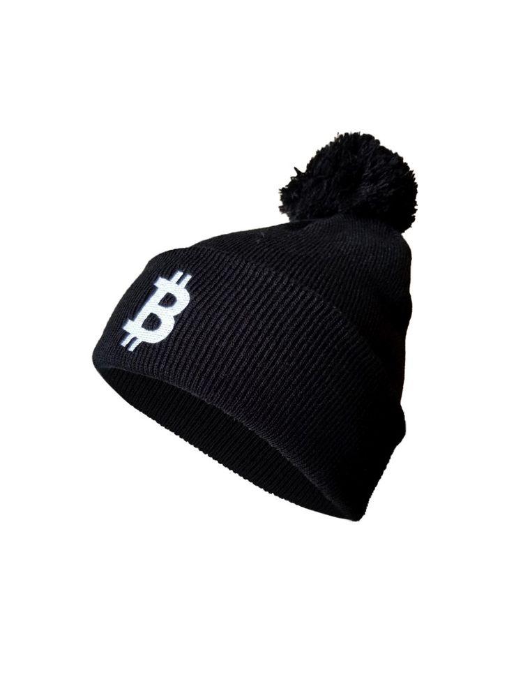 """Mütze bitcoin Logo """"simple B"""" - Strickmütze - schwarz"""