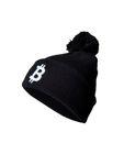 """Mütze bitcoin Logo """"simple B"""" - Strickmütze - schwarz 001"""