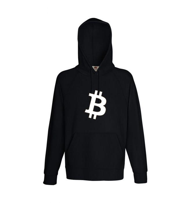 "Hoody bitcoin Logo ""simple B"" schwarz | Pullover | Sweatshirt"