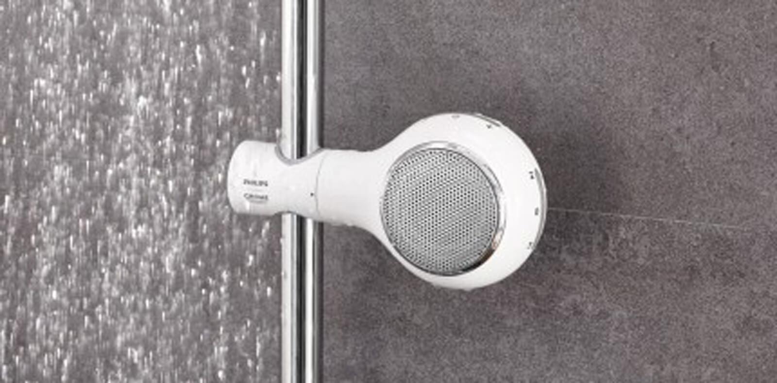 Der Duschkopf-Lautsprecher
