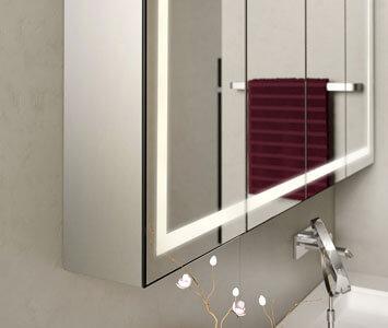 Spiegelschrank mit Aluminiumkorpus