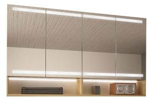 Spiegelschrank mit offenen Fächern