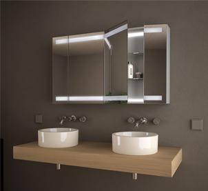 Zur Kategorie: Spiegelschränke mit Aluminium-Korpus