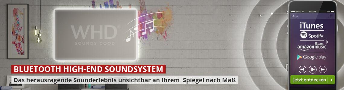 Spiegel mit WHD Soundsystem