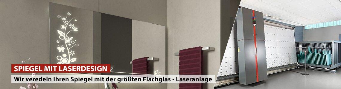 Spiegel mit Laserdesign