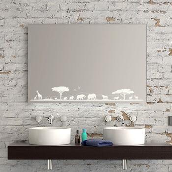 Badezimmer Motivspiegel