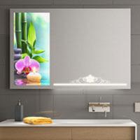 Spiegel mit Glasbild