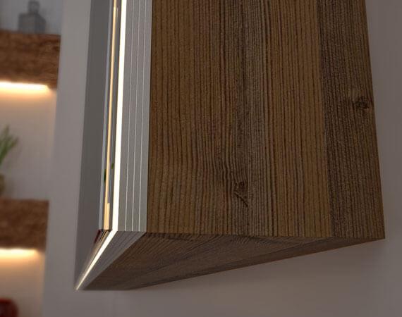 Spiegelschrank - Holz Korpus