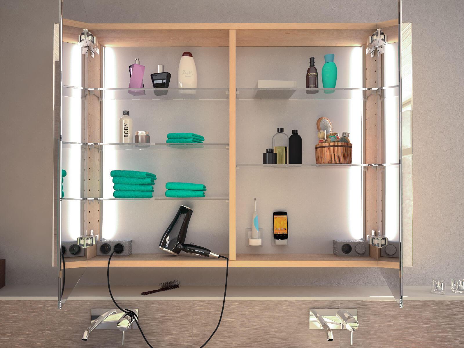 Spiegelschrank fürs Bad