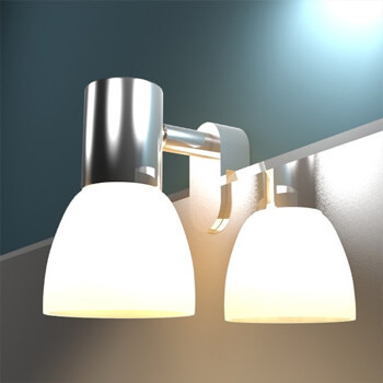 Externe Wandspiegel-Leuchten