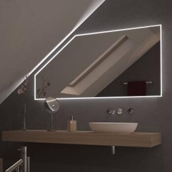 Lichtspiegel mit integrierter Beleuchtung