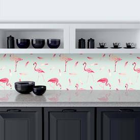 Küchenrückwand aus Glas Flamingo