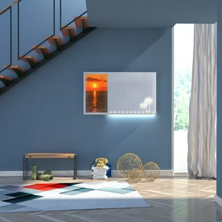Spiegel mit Glasbild Sonnenuntergang – Bild 2