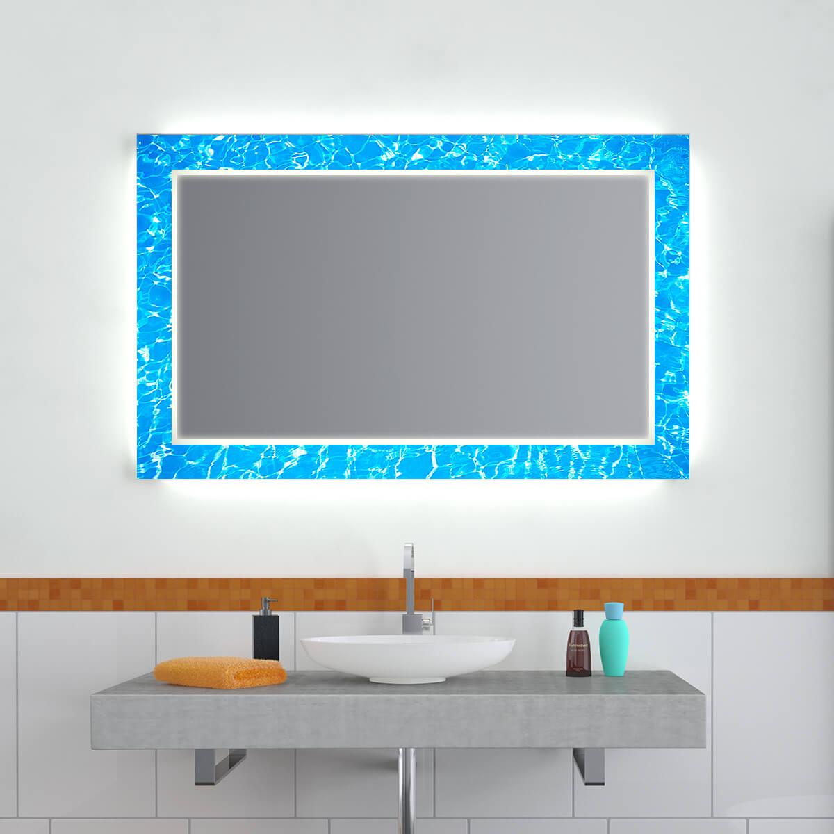Design Effekt Spiegel Blue Thunderstorm