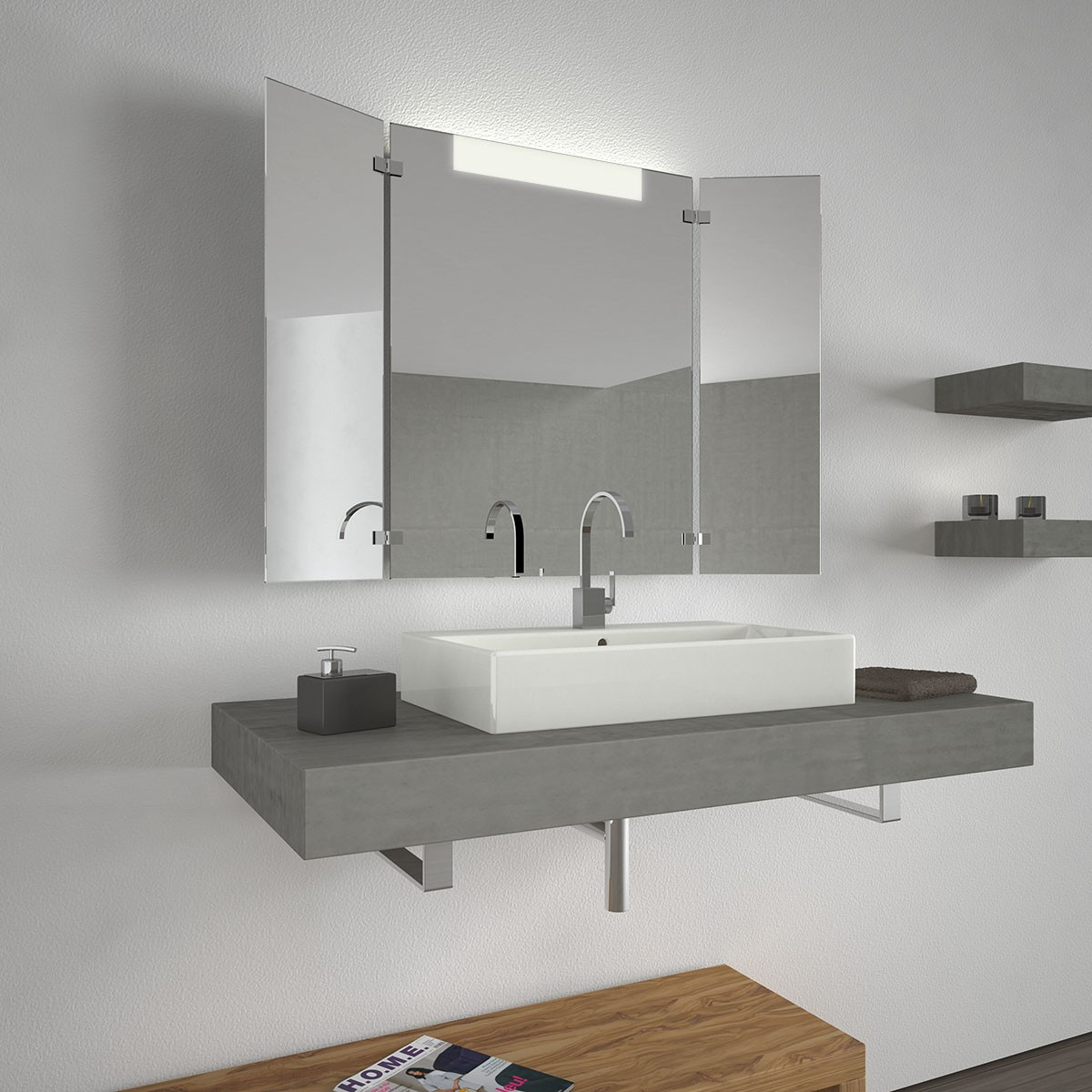 Badezimmerspiegel clara 300871523 for Spiegel ablage badezimmer