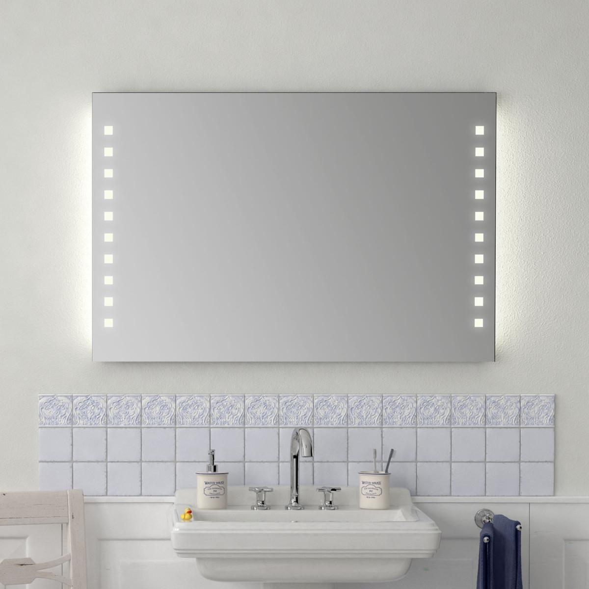 badezimmer wandspiegel mit licht emilia 300871653. Black Bedroom Furniture Sets. Home Design Ideas