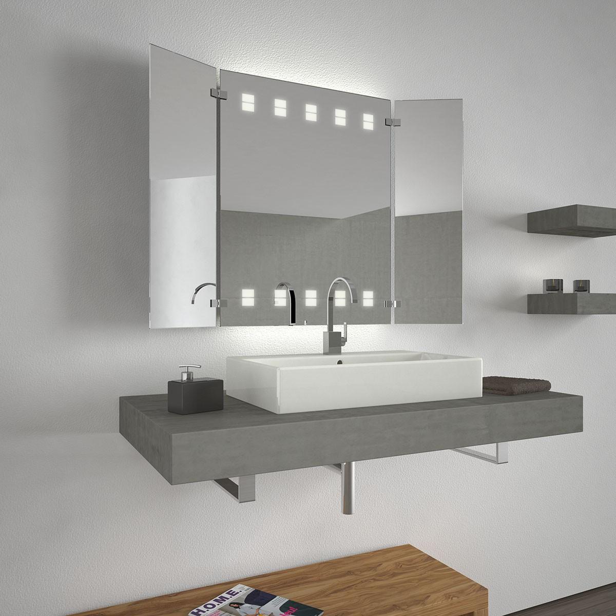 badezimmerspiegel mit licht louren two 300871866. Black Bedroom Furniture Sets. Home Design Ideas