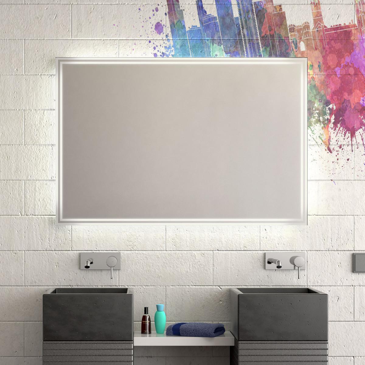 Badezimmerspiegel mit Beleuchtung Ibo