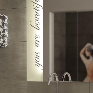 Badezimmerspiegel beleuchtet Scriptum – Bild 3
