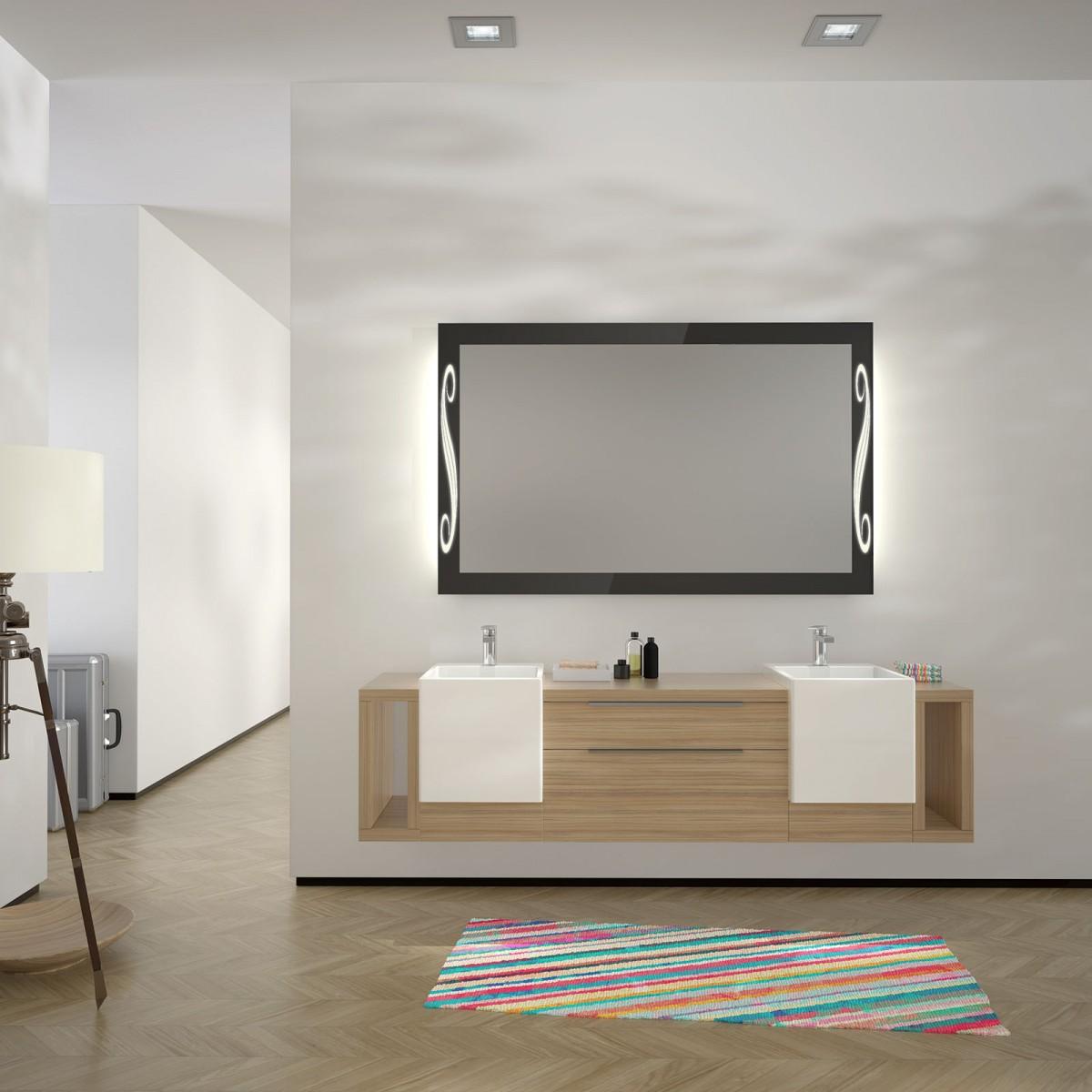 glas auf glas spiegel mit motiv fandango 989702303. Black Bedroom Furniture Sets. Home Design Ideas