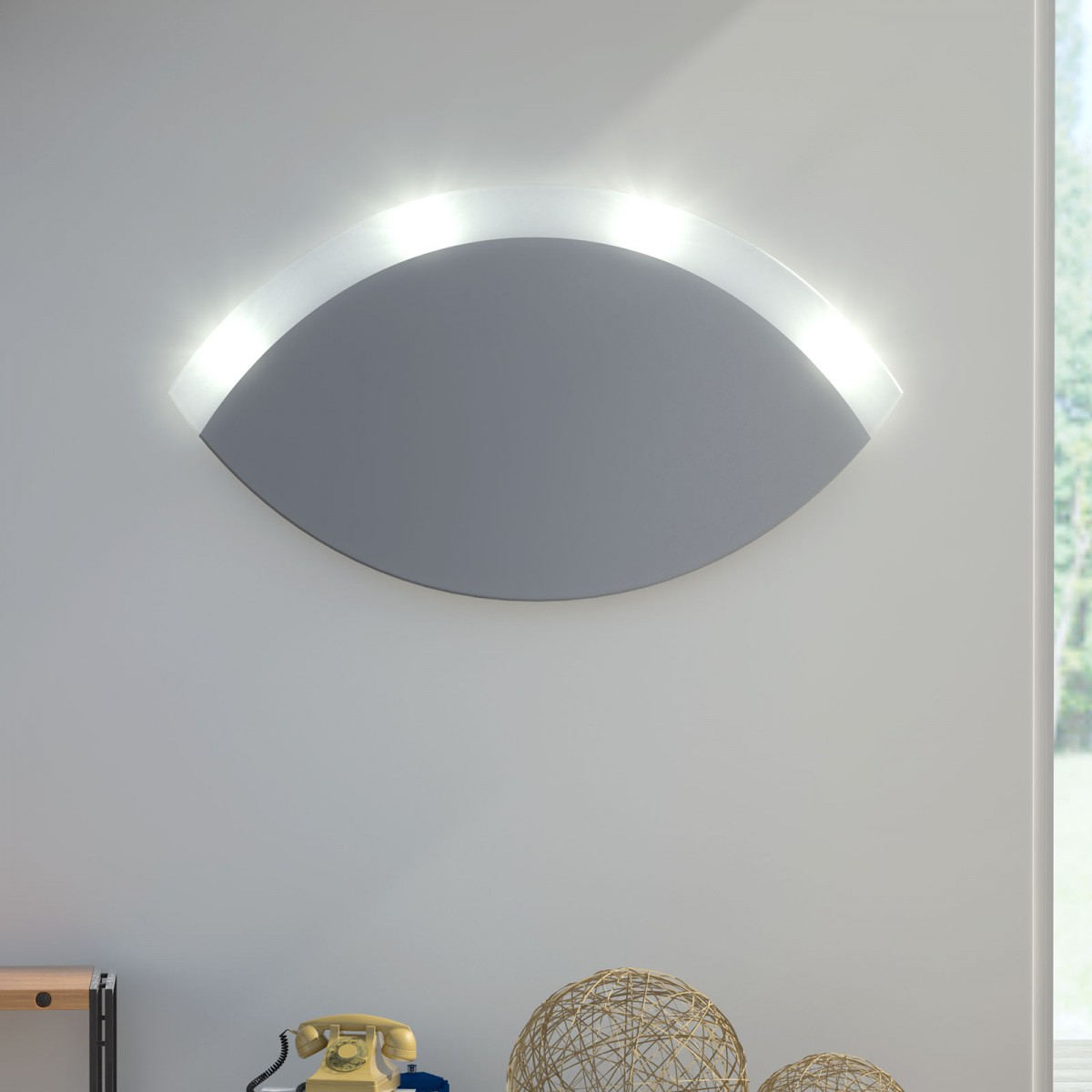 Wandspiegel mit Licht Achat
