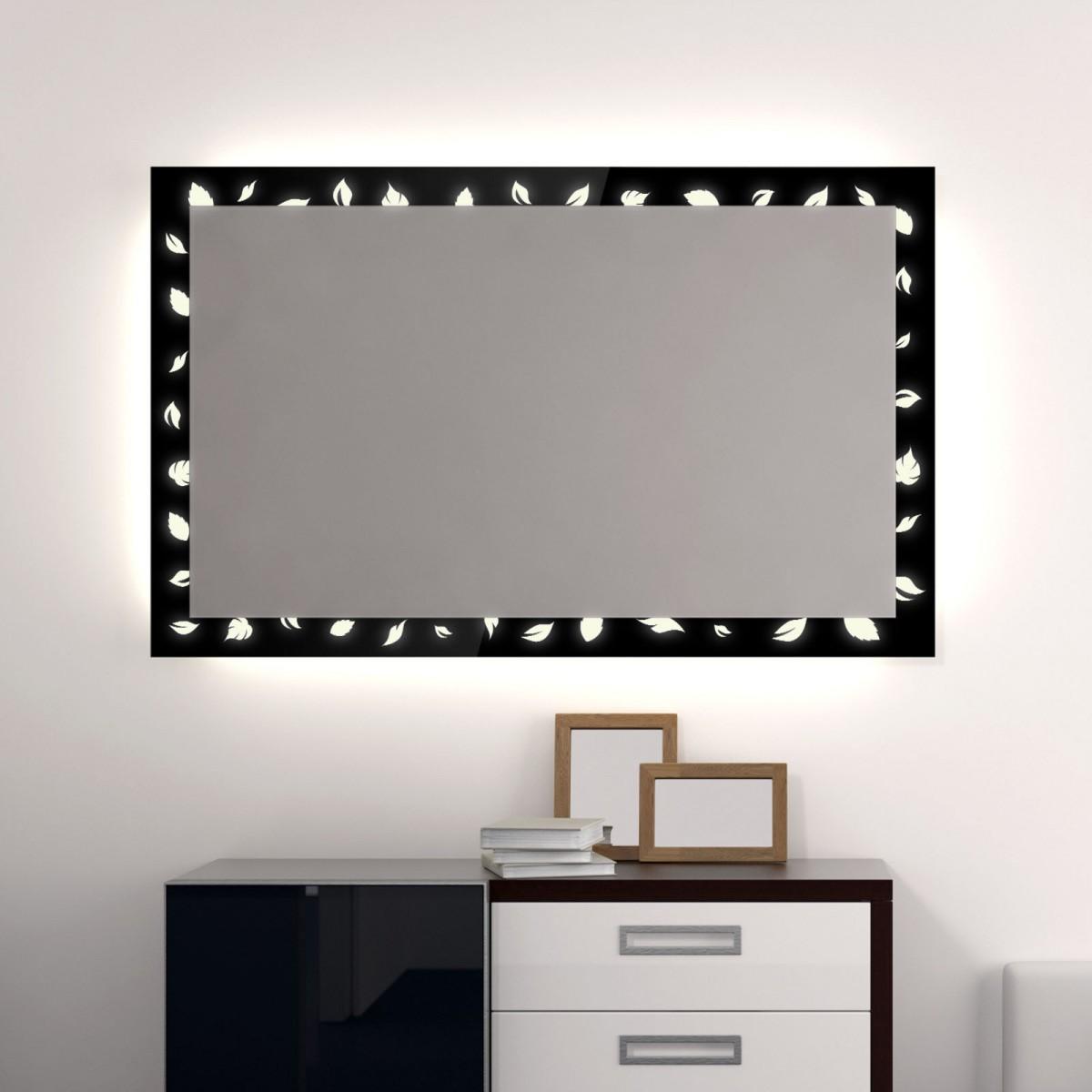 Badezimmerspiegel mit Beleuchtung Leaf