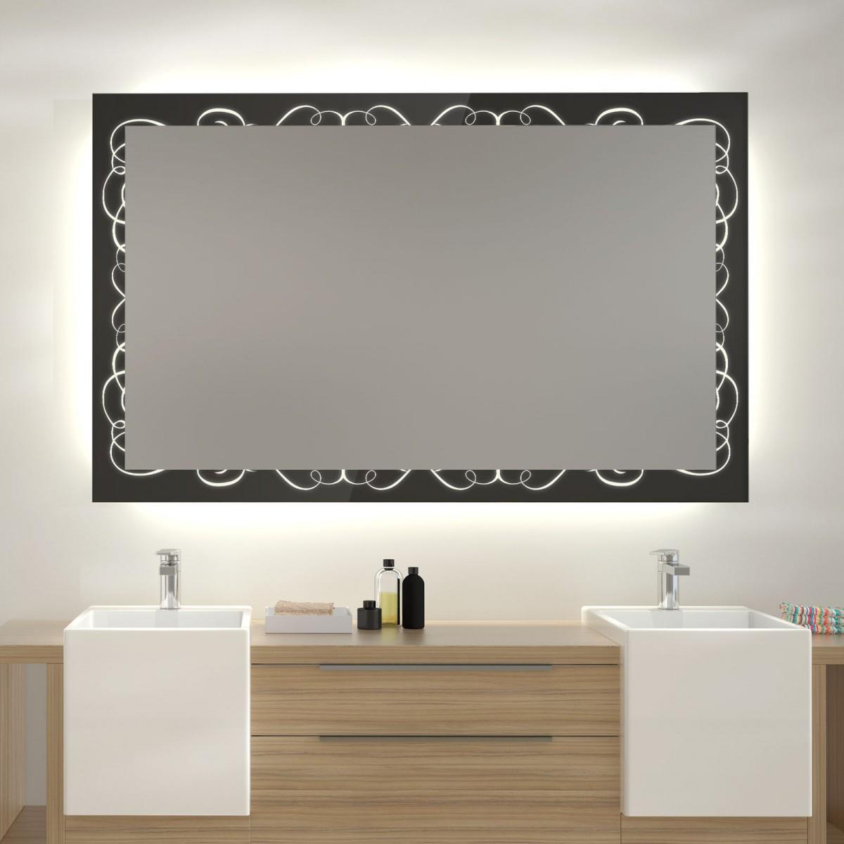 Glas auf Glas Spiegel mit Motiv Ambrosia