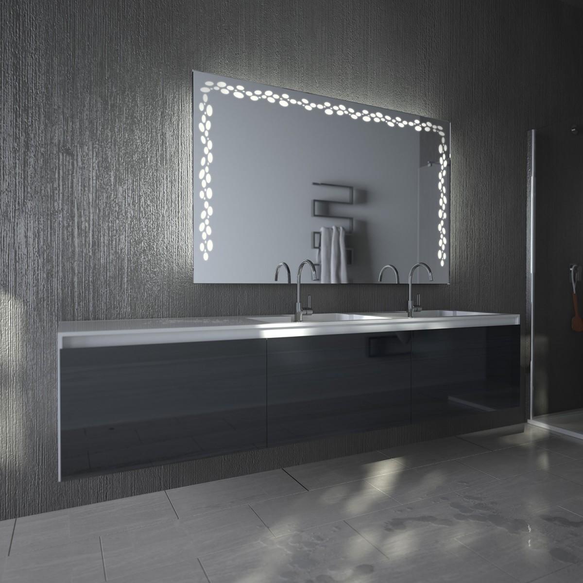 Beleuchteter Badspiegel Ornament