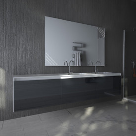 Wandspiegel LED Obsidian