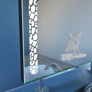 Spiegel Raumteiler Safari-Leopard Motiv – Bild 2