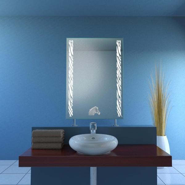 Spiegel Raumteiler Safari-Zebra Motiv