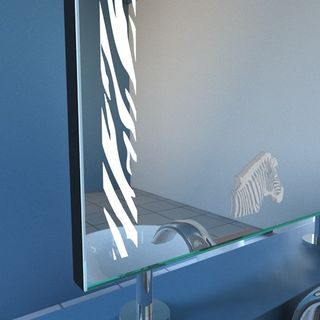 Spiegel Raumteiler Safari-Zebra Motiv – Bild 2