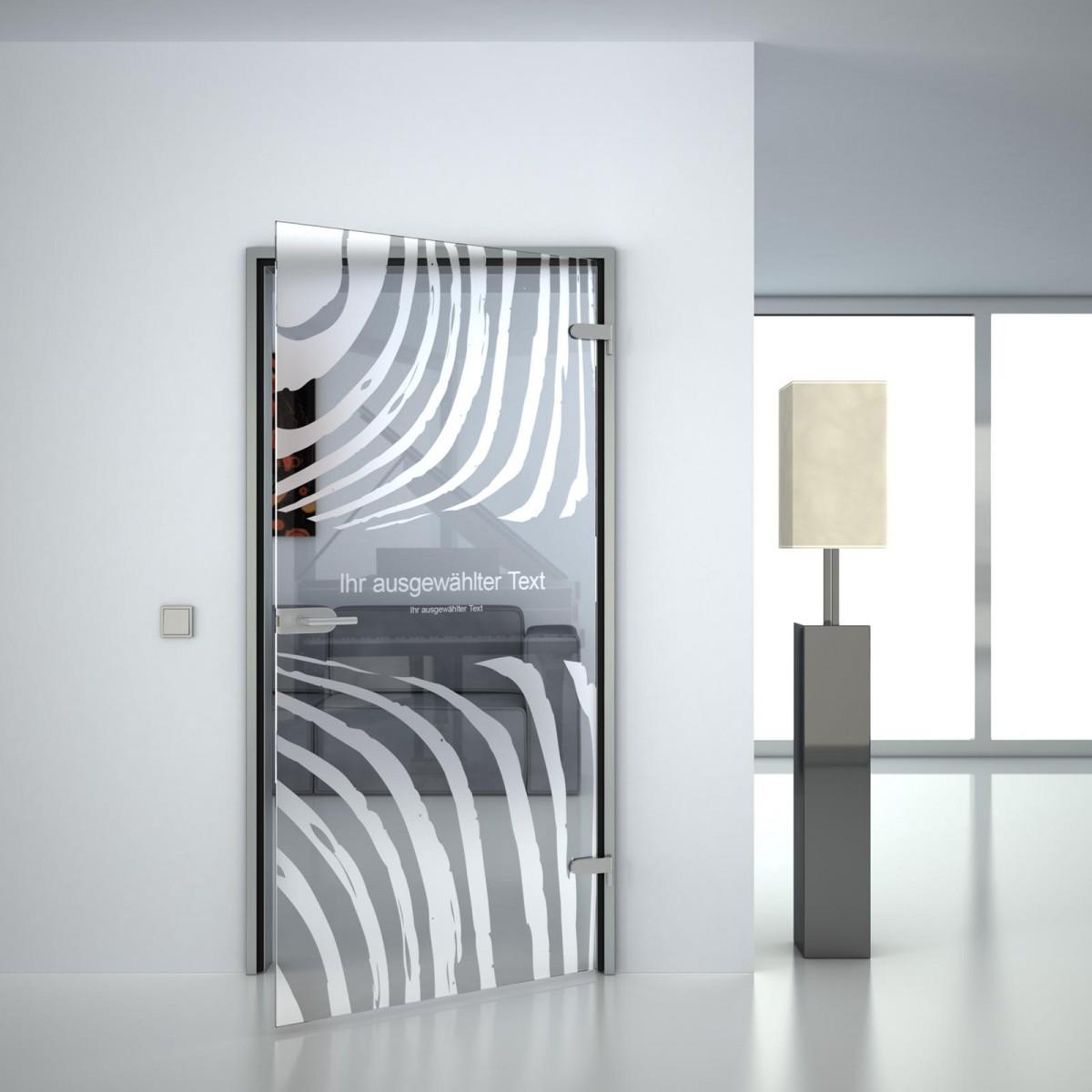 Glastür Zebra (anpassbar)