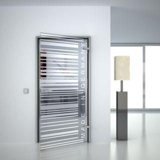 Glastür gelasert mit Motiv Barcode (989703703) ab 459,00 EUR von Lionidas auf glastüren-shop.com