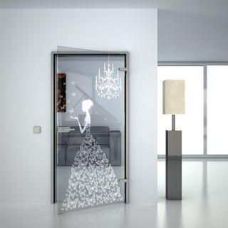 Glastür gelasert mit Motiv Prinzessin ab 459,00 EUR von Lionidas auf glastüren-shop.com