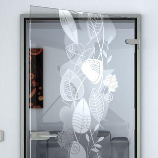 Glastür Blatt Swirl – Bild 2