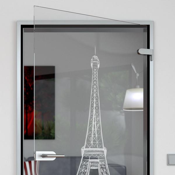 Produktbild 2 Glastür gelasert mit Motiv Eiffelturm by Lionidas - Dieses künstlerische Meisterwerk aus Paris könnten Sie schon bald in Ihrem Wohnraum bestaunen - mit der Glastür mit dem Motiv